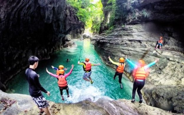 Badian Canyon Crossing With Kava Mountain Waterfall And Oslob Whale Shark Watching