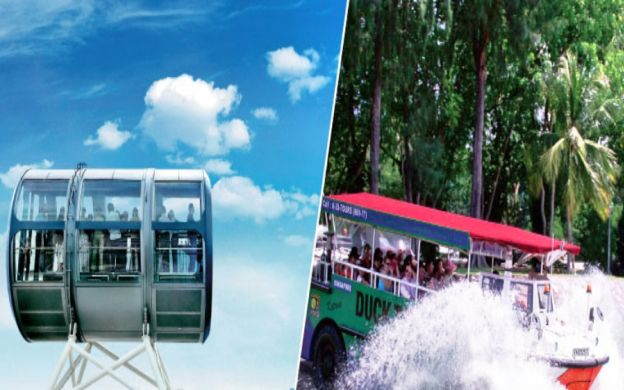 DUCK & HiPPO Combo: Singapore Flyer Entry Ticket and Original DUCKtour!