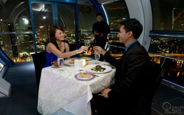 Singapore Flyer Premium Sky Dining Experience with Express Boarding