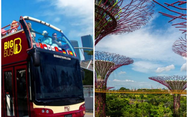 Big Bus Singapore: Hop-On, Hop-Off Bus with Gardens By the Bay Ticket