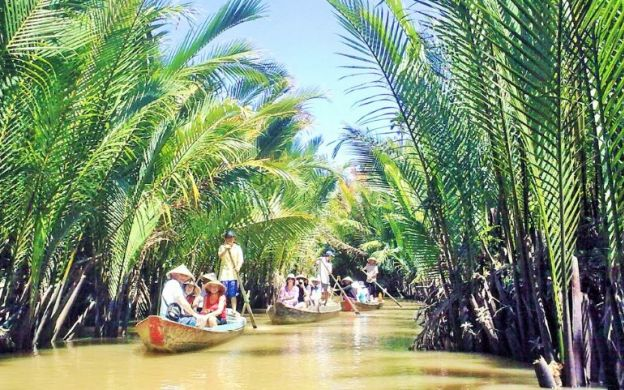 Floating in Beauty: Discover the Gorgeous Mekong Delta with a River Cruise, Tours of Cottage Industries and Farms and a Lunch