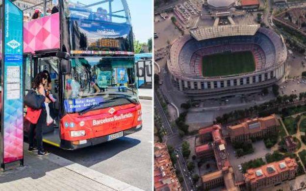 Saver Combo: Barcelona Bus Turistic Hop-On Hop-Off Tour and FC Barcelona Ticket