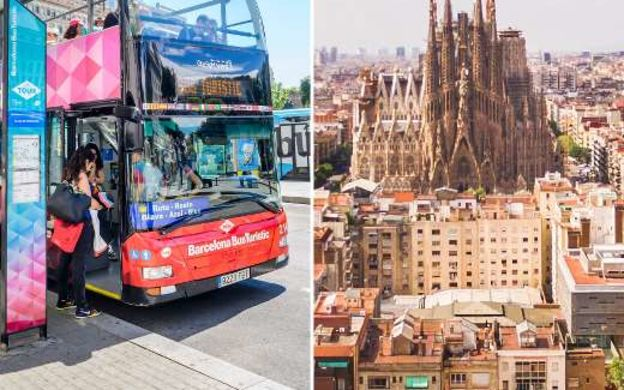 Saver Combo: Barcelona Bus Turistic Hop-On, Hop-Off & Skip the line Sagrada Familia Audio Guided Tour