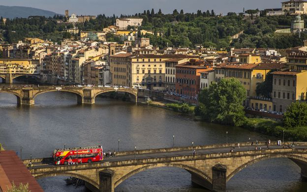 City Sightseeing Florence: Hop-On, Hop-Off Bus and Accademia Gallery Guided Tour