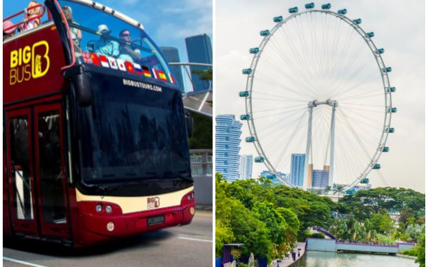 Big Bus Singapore: Hop-On, Hop-off Bus with Singapore Flyer Ticket