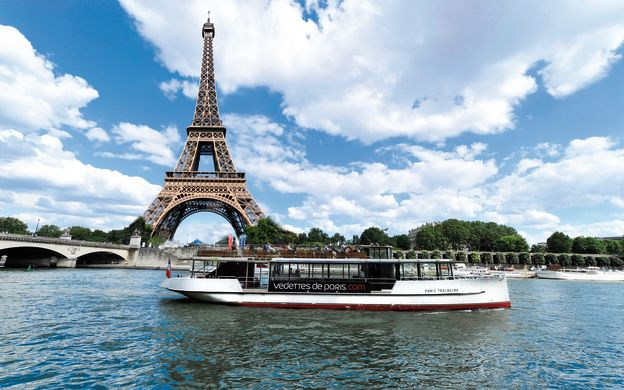1-Hour Sightseeing Cruise on River Seine: Vedettes de Paris