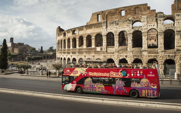 City Sightseeing Rome: Hop-On, Hop-Off Bus + Colosseum Guided Tour