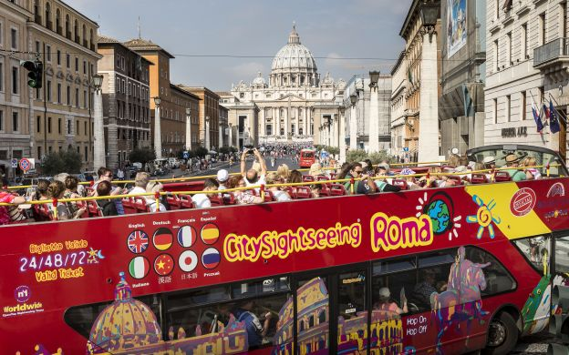City Sightseeing Rome: Hop-On, Hop-Off Bus + Catacombs Tour