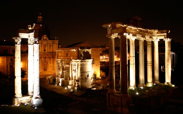 Rome by Night: Bus and Walking Tour
