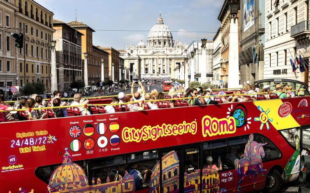 City Sightseeing Rome: Hop-On, Hop-Off Bus + Free Walking Tour