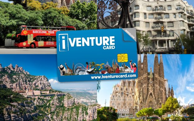 Barcelona i-Venture Card: Sagrada Familia, Park Guell, Montserrat, Hop On Hop Off & More