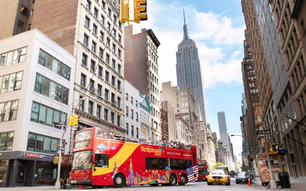 City Sightseeing New York City: Hop-On, Hop-Off with Ferry, Statue of Liberty, Empire State Building and more
