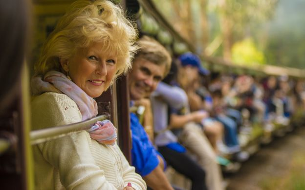 Puffing Billy Train Ride, Devonshire Tea & The Dandenongs with Hotel Pick-up from Melbourne