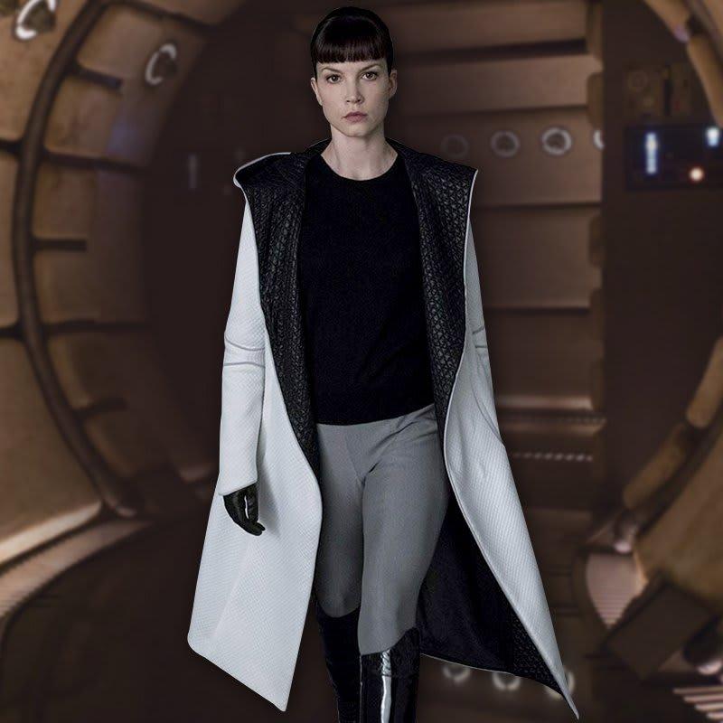 Blade-Runner-2049-LUV-Sylvia Hoeks-white Trench-Coat