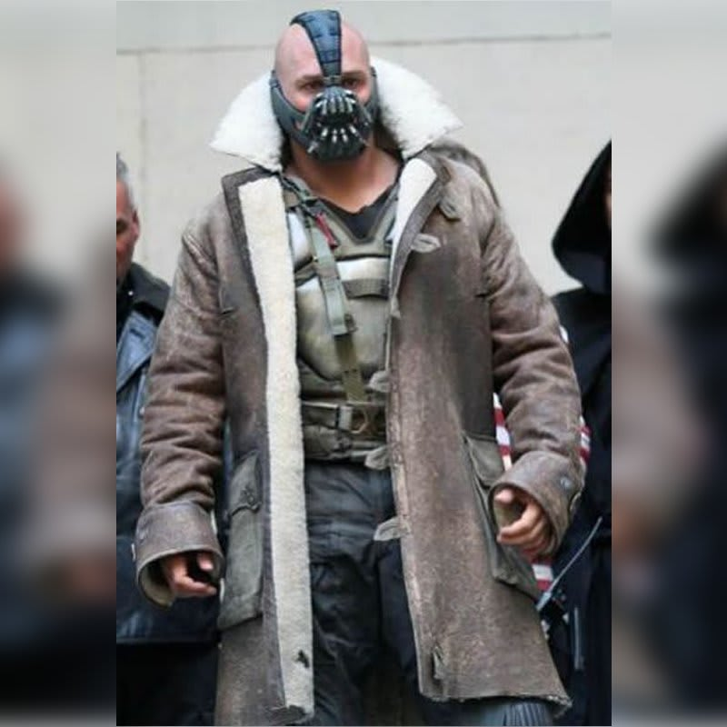 Dark-Knight-Rises Bane-Shearling Leather-Coat