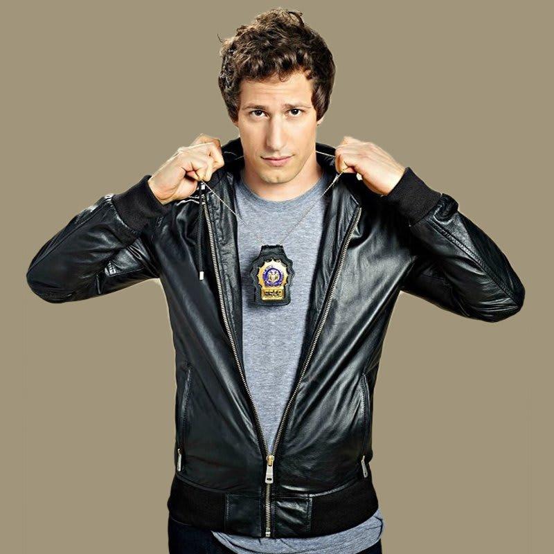 Brooklyn-Nine- Nine-Jake-peralta- TV-Series-Black- Leather-Jacket