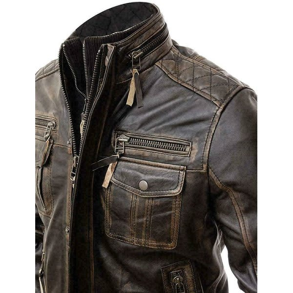 Men's-Modern-Retro-Double-Zipper-Brown-Distressed-Leather-Jacket-Online-At-Superstar-Jackets
