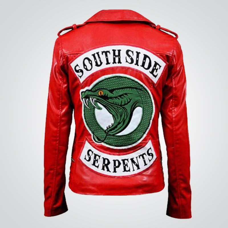 Cheryl-Blossom Riverdale-Serpent Red-Leather-Jacket