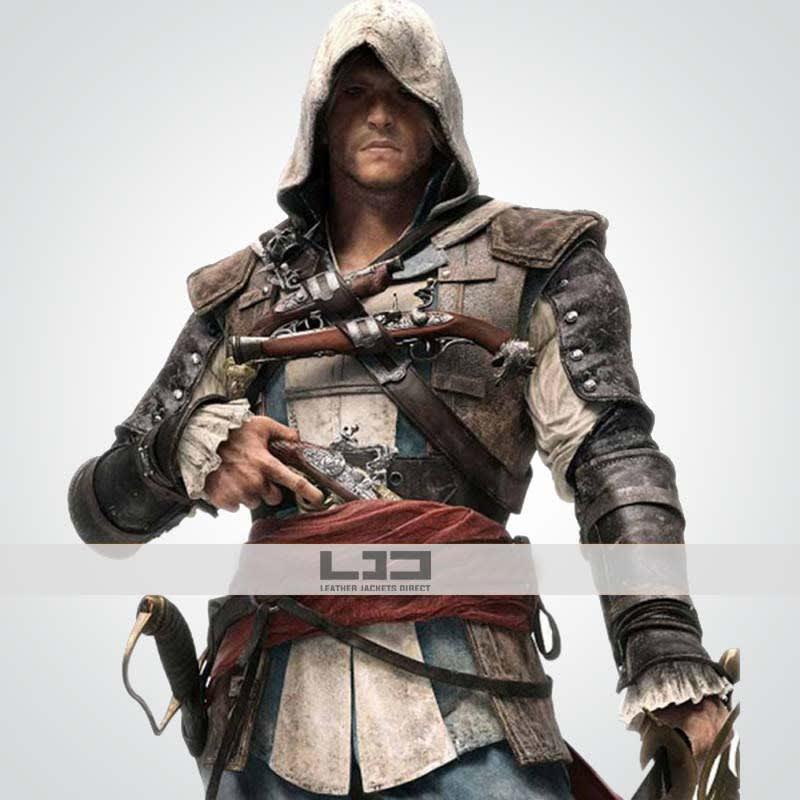 Assassin's-Creed-4 Edward-Kenway Leather-Costume Coat