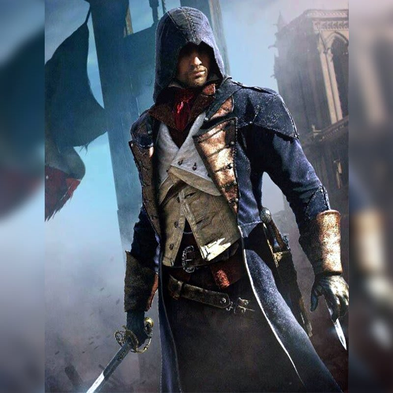 Arno-Dorian Assassin's-Creed Unity-Video-Game-Blue-Trench-Coat
