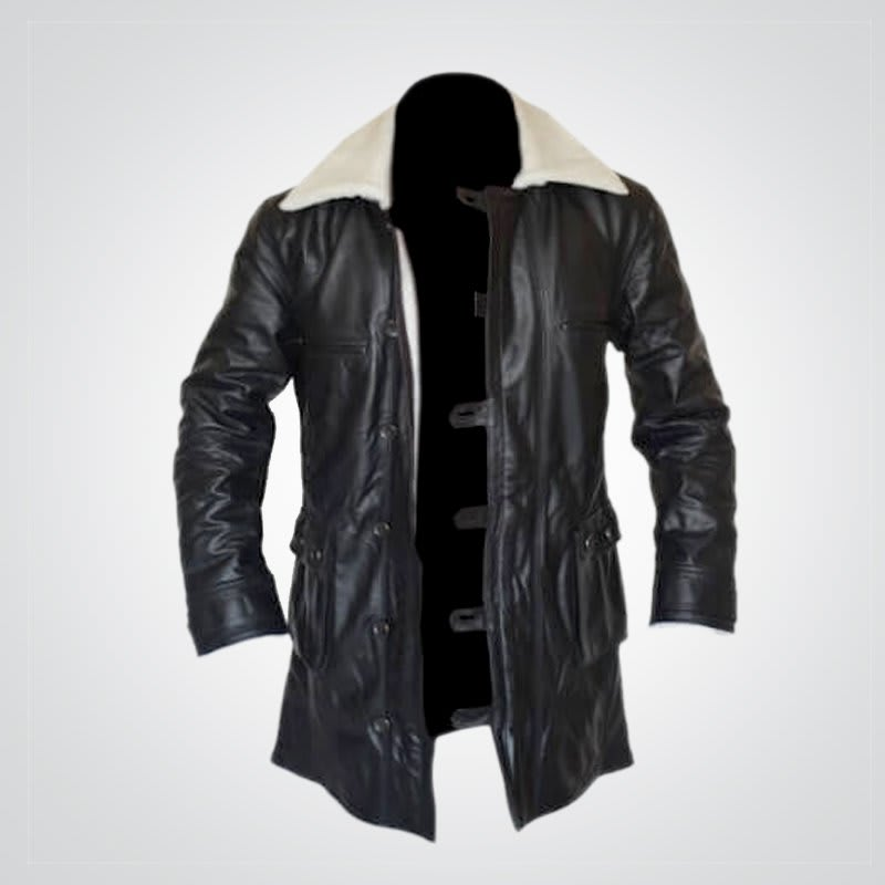 Dark-knight- Distressed- Shearling-Coat