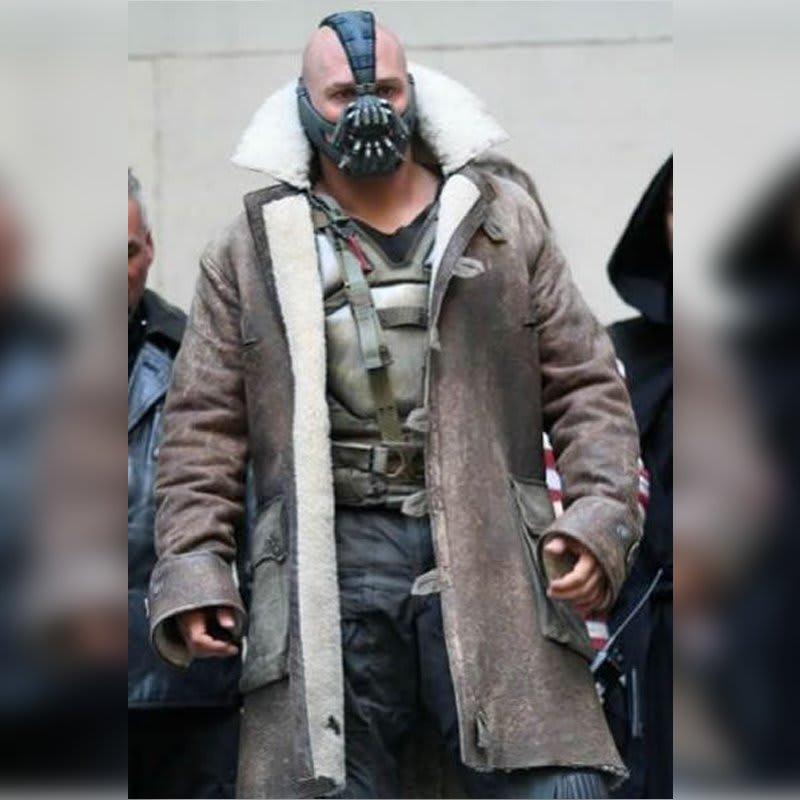 Dark-Knight-Rises Bane-Shearling Leather-Coat