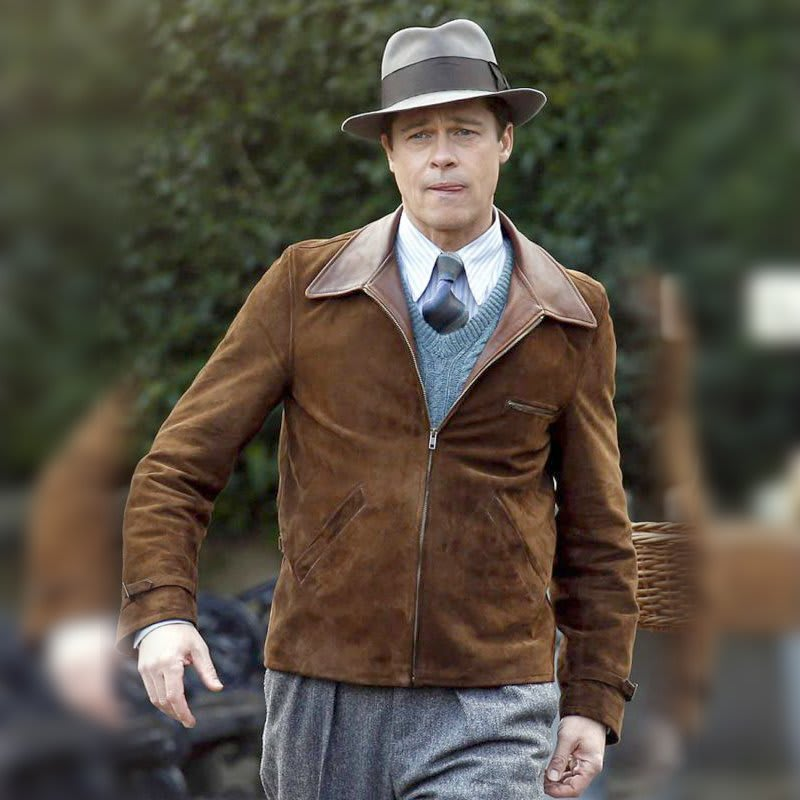 Allied-Brad-Pitt- Leather-Jacket