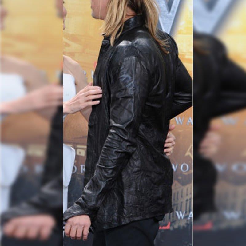 World-War-Z-Brad-Pitt-Famous- Movie- Leather-Jacket