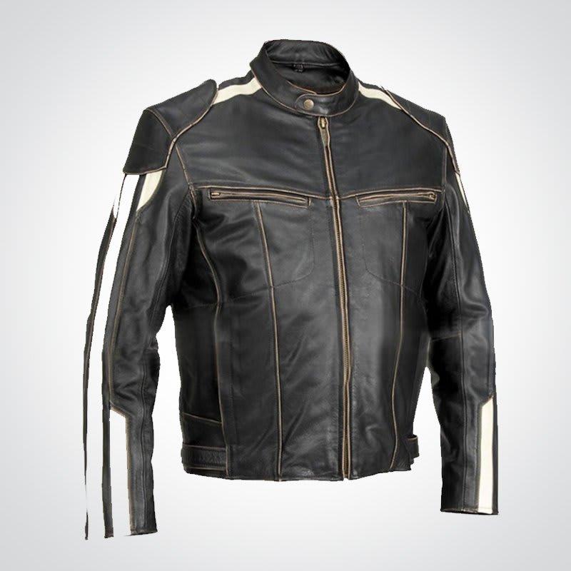 Men's-River-Road Vintage-Biker- Jacket