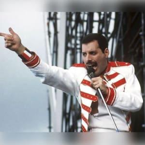 Freddie-Mercury Queen-White-&- Red-Concert Leather-Jacket