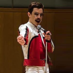 Freddie-Mercury- Bohemian- Rhapsody-Red and-White-Leather-Jacket