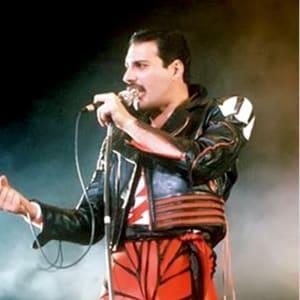 Freddie-Mercury- Concert-Arrow- Red & Black- Leather-Jacket