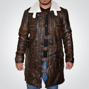 ane-Dark-knight Rises-Distressed- Brown-Leather- Coat