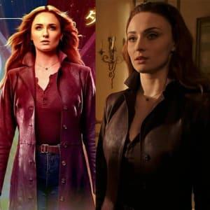 X-Men-Dark- Phoenix-Sophie- Turner-Leather- Trench-Coat