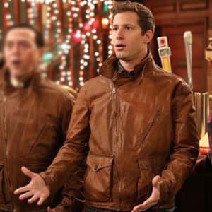Jake-Peralta- Brooklyn-99-Andy- Samberg- Brown-Leather- Jacket