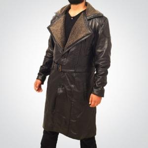 Blade-Runner-2049-Officer K- Ryan-Gosling- Black-Leather- Coat