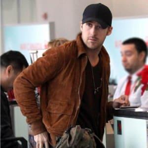 Men-brow- suede leather-jacket