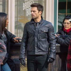 Sebastian Bucky Barnes Black Leather Jacket