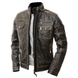 Men's-Modern-Retro-Double-Zipper-Brown-Distressed-Leather-Jacket-Online-At-Superstar-Jackets--3