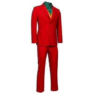 Joaquin Phoenix Joker Movie Red Suit, Vest, Shit & Pant Halloween Costume Cosplay