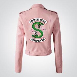 Southside-Serpent Pink-Leather Jacket