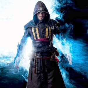 Assassin's-Creed Aguilar-Michael Fassbender Leather-Trench Coat
