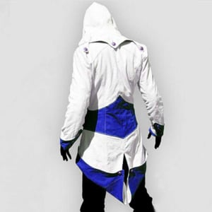 Assassins-Creed Connor-Kenway Hoodie-White Leather- Jacket