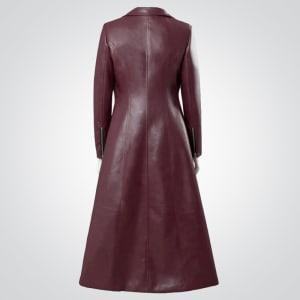 x-men-Sophie- turner-leather-Coat