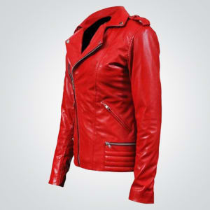 Southside Serpents-Season-2-Women Red- Leather-Jacket