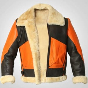 Mens-B3-Bomber-Aviator-Flying-Shearling-Leather-Jacket