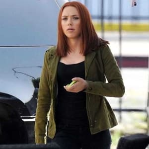 Captain-America-winter-Soliders-Black-Widow-Green-Jacket