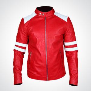 Fight-Club-Movie- Tyler- Durden-Red-&- White-Leather- Jacket