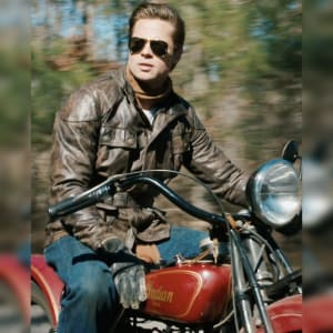 Brad-Pitt- Benjamin-Button- Motorcycle- Leather-Jacket