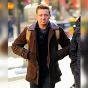 Jeremy-Renner- Hawkeye-2021- Clint-Barton- Leather-Coat